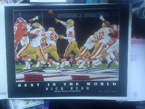Joe Montana 49ers: Best In the World Llithograph Number 2798/5,000 12 x 9