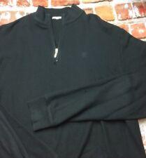 Peter Millar Mens Black 1/4 Zip L/S Shirt Pima Cotton Sz XL EUC (3w)