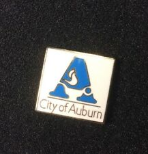 USA CITY OF AUBURN ALABAMA  PIN BADGE ENAMEL.