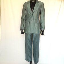 Ann Taylor Womens Pants Suit Linen Blazer Size 4 Suit Trousers Size 2