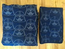 Pottery Barn Kids Star Wars Darth Vader Stitched Quilt Twin Sham Navy