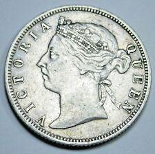 1895 XF-AU British Honduras 25 Cents Antique Britain Silver Queen Victoria Coin