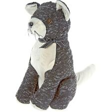 Lesser & Pavey Black/Grey Cat DOOR STOP, Felt, 24x28cm