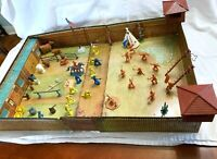 Marx Action Fort Apache Carry All Vintage 1960's Litho Tin Playset