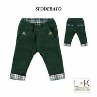 Pantalone in Velluto Verde Neonato Minibanda N632