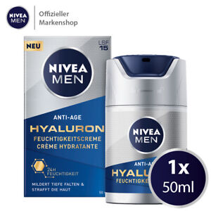 NIVEA MEN Anti-Age Hyaluron Feuchtigkeitscreme Gesichtscreme mit LSF15 (50ml)
