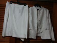 Emily 2 Pc White Dress Suit
