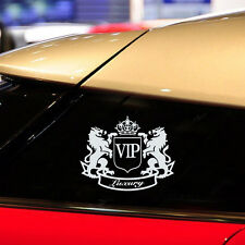 1pc White VIP The Lion Funny Cartoon Car  Body Window Laptop Stickers