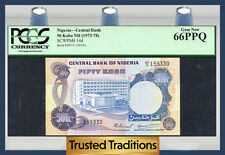 TT PK 14d 1973-78 NIGERIA CENTRAL BANK 50 KOBO PCGS 66 PPQ GEM TOP POPULATION!