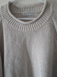MARKS and SPENCER ~ Mens  Womens  Size Large  Jumper, Pullover.  Cream.