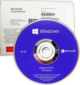 Windows 10 Pro DVD Genuine License Key 64Bit English Version