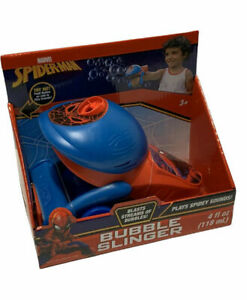 Brand New Marvel Spider-Man Bubble Slinger Plays Spidey Sounds Blasts Bubbles 3+
