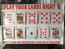 PLAY YOUR CARDS RIGHT GAME BOARD WITH EXTRA LARGE BIG JUMBO A5 PLAYING CARDS
