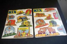 Lot of 2 Vintage 1940s Kix Cereal Box Ding Dong Circus Cut Outs General Mills