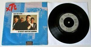 "XTC / Ruts - Take This Town / Babylon's Burning UK 1980 RSO 7"" Single P/S"