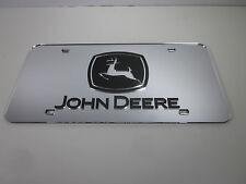 John Deere Acrlic Mirror License Plate Auto Tag nice