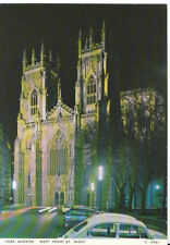Yorkshire Postcard - York Minster - West Front by Night - Ref AB3141