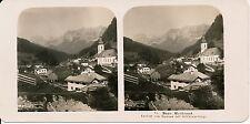 ALLEMAGNE c. 1900 - Stéréo Ansicht von Ramsan mit Reitalmgebirge - 76