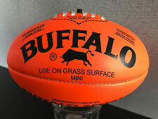 Brand New Buffalo Brand Soft Touch Pvc Mini Sz 20cm Orange Aussie Rules Football