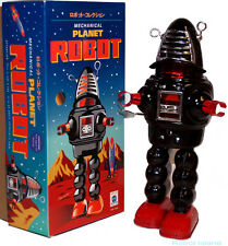 Schylling Planet Robot Tin Toy Windup Robby the Robot Black