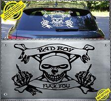 Skull FUCK YOU BAD BOY Power Aufkleber Sticker Totenkopf Heckscheiben FYBB BMW