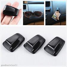 3XPVC Black Automobile Interior Debris Bags Sunglasses Hanger Hook Self Adhesive