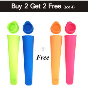Silicone Push Up Frozen Stick Ice Cream Pop Yogurt Jelly Lolly Maker Mould Mouds