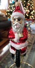 "Christopher Radko Radko ""Cycle Santa"" 96-114-0 Santa on Unicycle -Mint w/Tag"