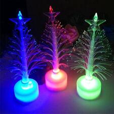 Colorful LED Flash Fiber Optic Mini Christmas Tree Xmas Party Home Table Decor
