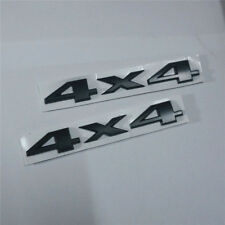 2x Black Matte 4x4 Metal Sticker Separated Emblem Decal Badge suv Limited Logo