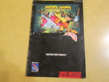 NINTENDO SNES  INSTRUCTION  BOOKLET  FOR SNES GAME MICKEY MANIA