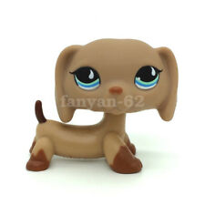 Pet Shop Dog DACHSHUND LPS Toys Puppy Brown Sausage With Blue Eyes Gift