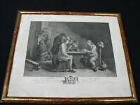 1- Ancienne gravure XVIIIème siècle de David Teniers(1610-1690) peintre flamand