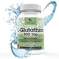 L-Glutathion, 90 Kapseln hochdosiert 250mg Made in Germany, Aminosäuren
