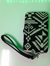 American Rag iPhone 5 Wallet wristlet case Aztec Pattern Fabric