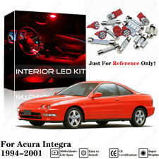 9pcs Red Interior LED SMD Light Bulbs Package Kit For Acura Integra 1994-2001