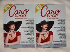 "CARO EMERALD Live ""The Shocking Miss Emerald"" 2014 UK Tour Promo flyers x 2"