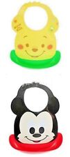 Hubaby Mickey AND Pooh Water Proof Plastic Bib Food Catcher with Adjustable Neck