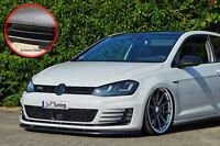 Spoilerschwert Frontspoiler Lippe ABS VW Golf 7 GTI + GTD ABE schwarz glänzend