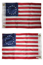 12x18 Besty Ross 2 Faced 2-ply Nylon Wind Resistant Flag 12x18 Inch