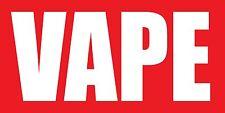 4'x8' Vape Vinyl Banner Sign - ecig, smoke, shop, ejuice - Red