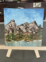 Original Oil Painting On Canvas (Bob Ross Inspired Decoration 3x3)