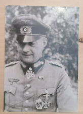WW2 army Knights Cross Signed Photo - Adolf Raegner