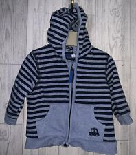 Boys Age 3-6 Months - Bluezoo Hooded Zip Up Top