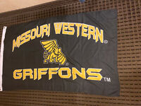 Missouri Western State University Griffons Black Flag MWSU Large 3x5 Free Ship
