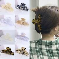 Women Leopard Hairpins Large Acrylic Hair Clip Geometric Acetate Hair Claws New