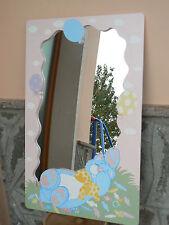 """NUOVO Specchio da parete in legno cameretta bimba """"orso goloso"""""""