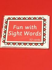 Fun with Sight Words - Fun With Learning Flash Cards