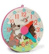 Nici 33907 Wolf + Vogel Rotkehlchen Lernuhr Rosa Uhr Plüsch Geschenk Wand