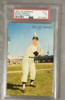 1953 55 DORMAND 111 MICKEY MANTLE YANKEES HOF POSTCARDS BATTTING PSA 3 VG